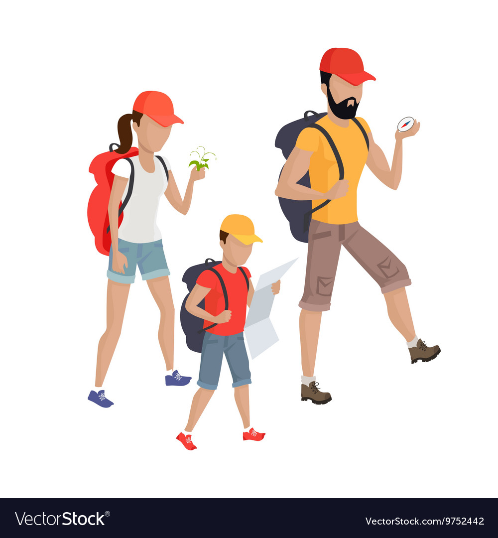 Family Hiking Concept