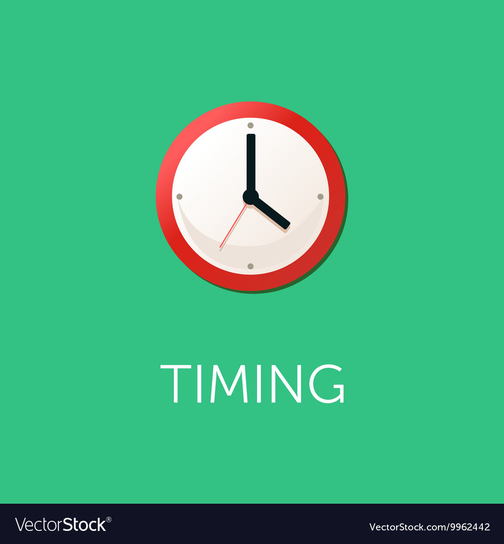 Flat design concept for time management targeting vector image
