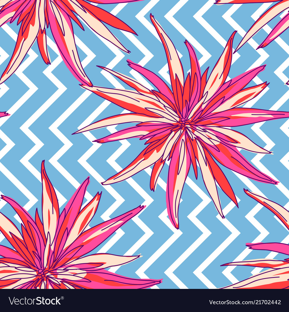 Floral summer seamless background flowers