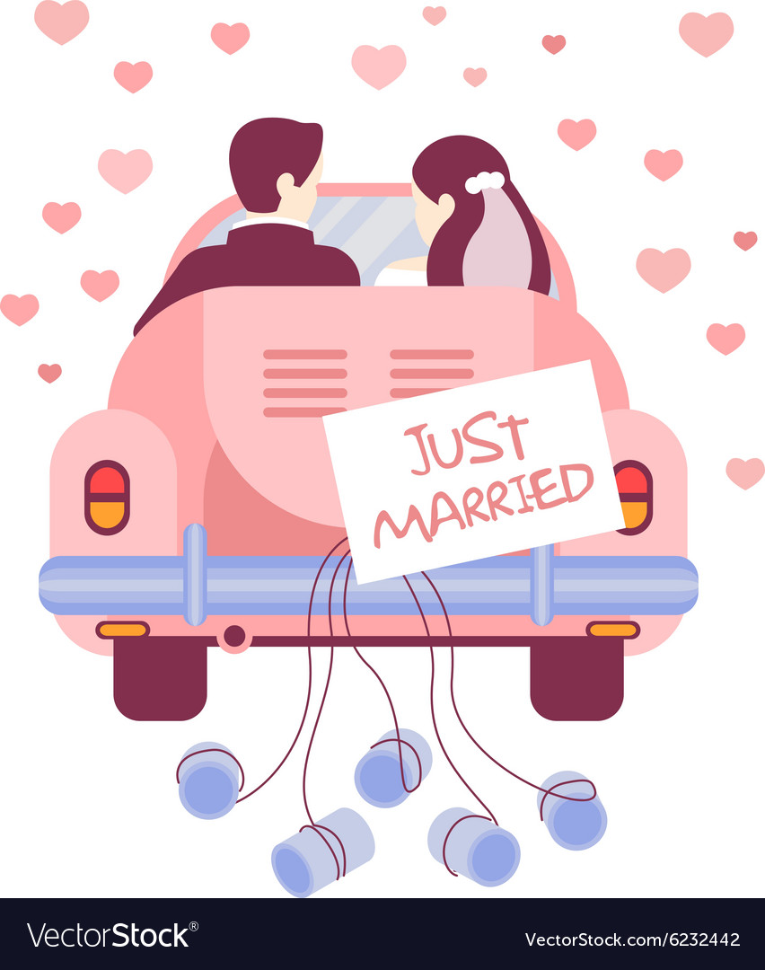just married on car royalty free vector image vectorstock motorcycle clipart free download motorcycle clipart images black n white