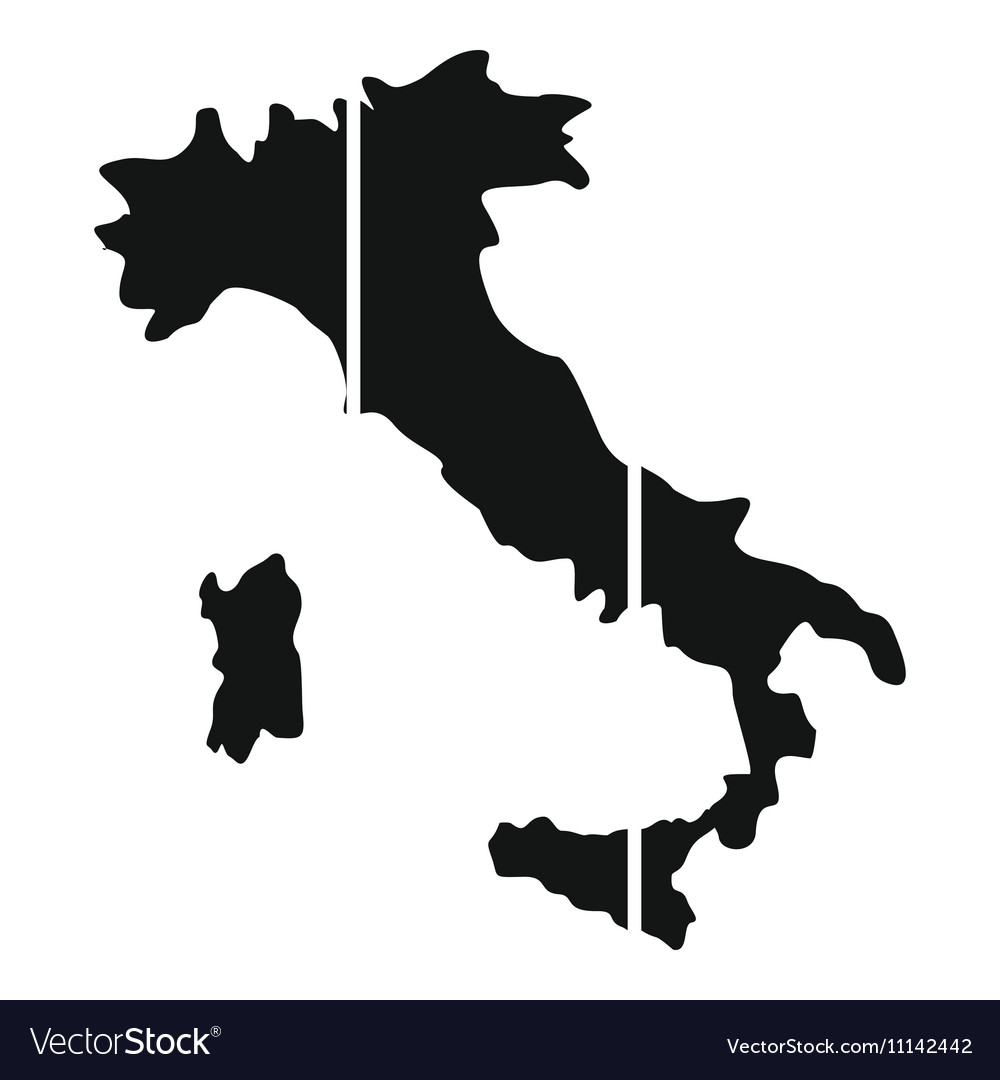 Map Of Italy Simple.Map Of Italy Icon Simple Style