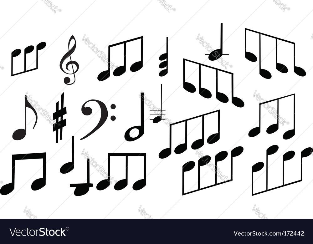Set Of Musical Symbols Royalty Free Vector Image