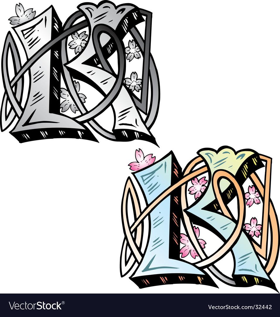 Tattoo letterK