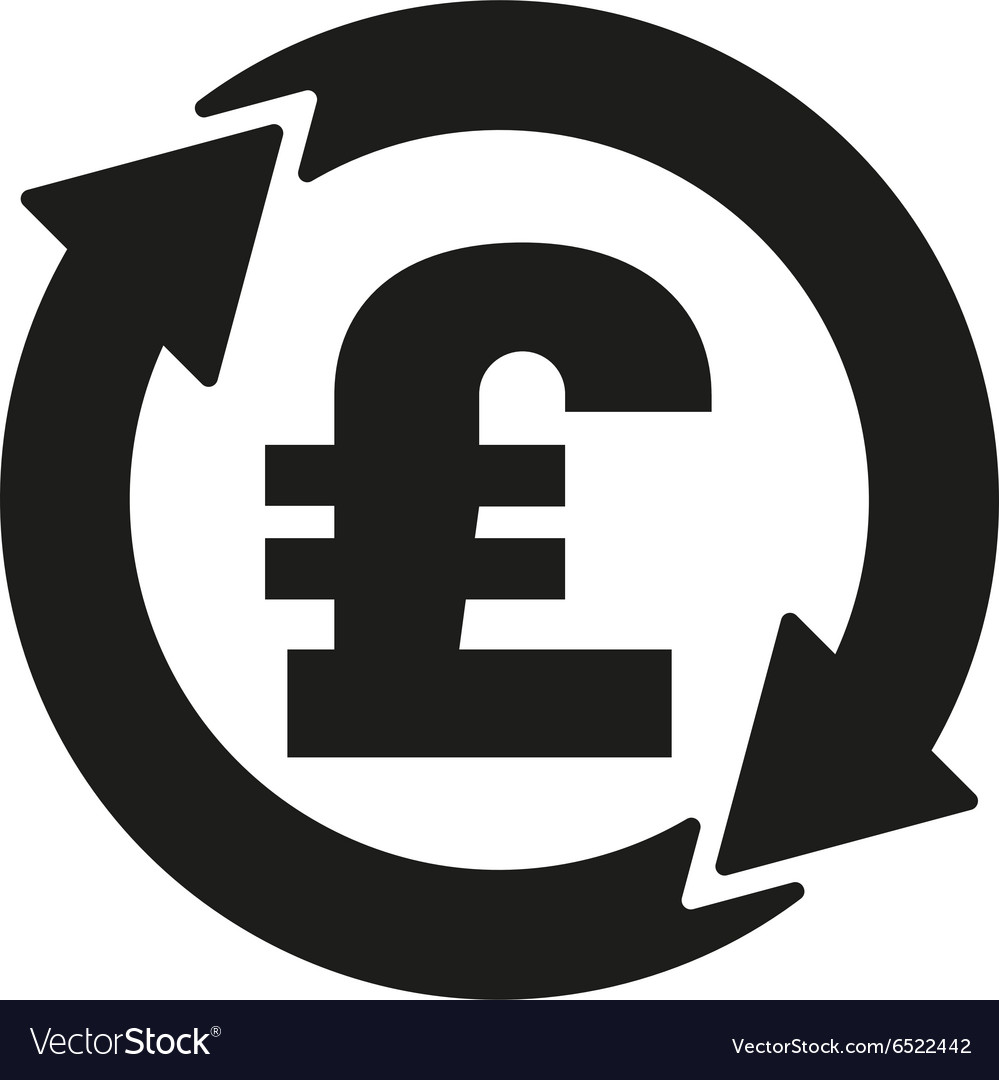 The currency exchange pound sterling icon Cash