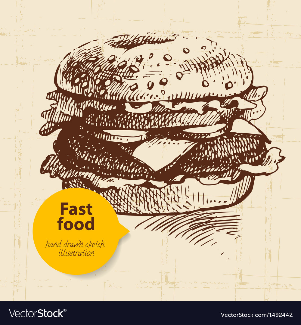 Vintage fast food background