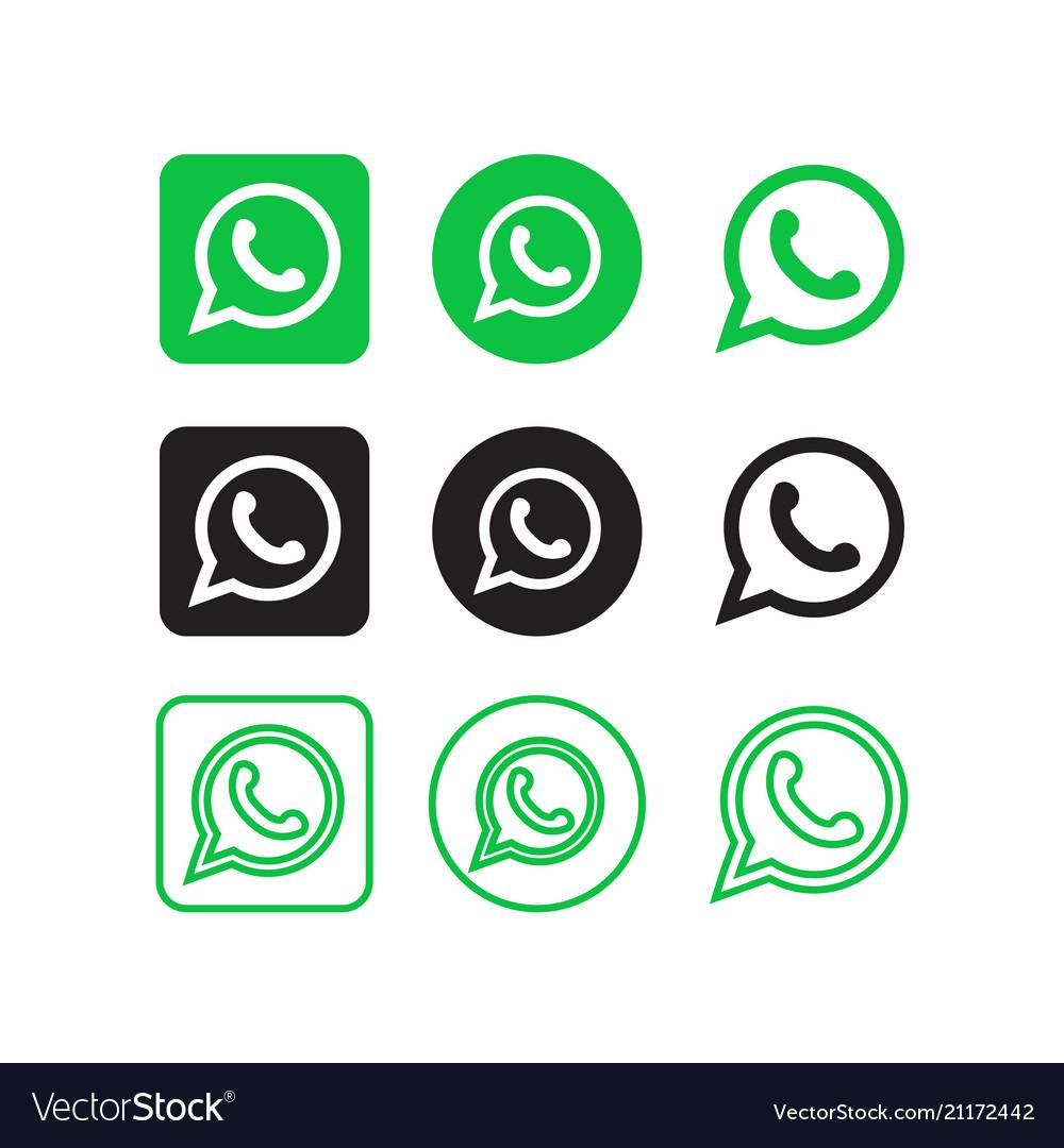 Whatsapp social media icons