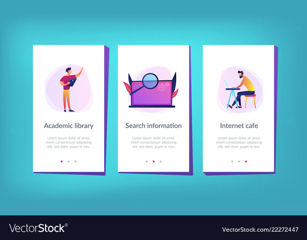 Academic laboratory app interface template Vector Image