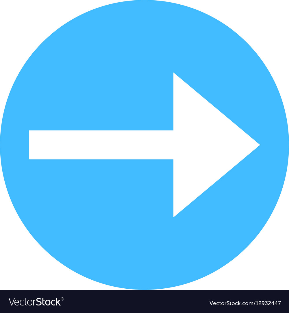 Arrow sign direction icon circle button flat