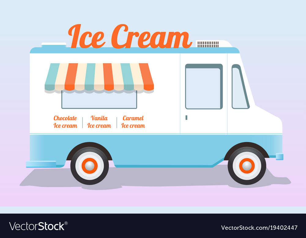 colorful ice cream truck royalty free vector image