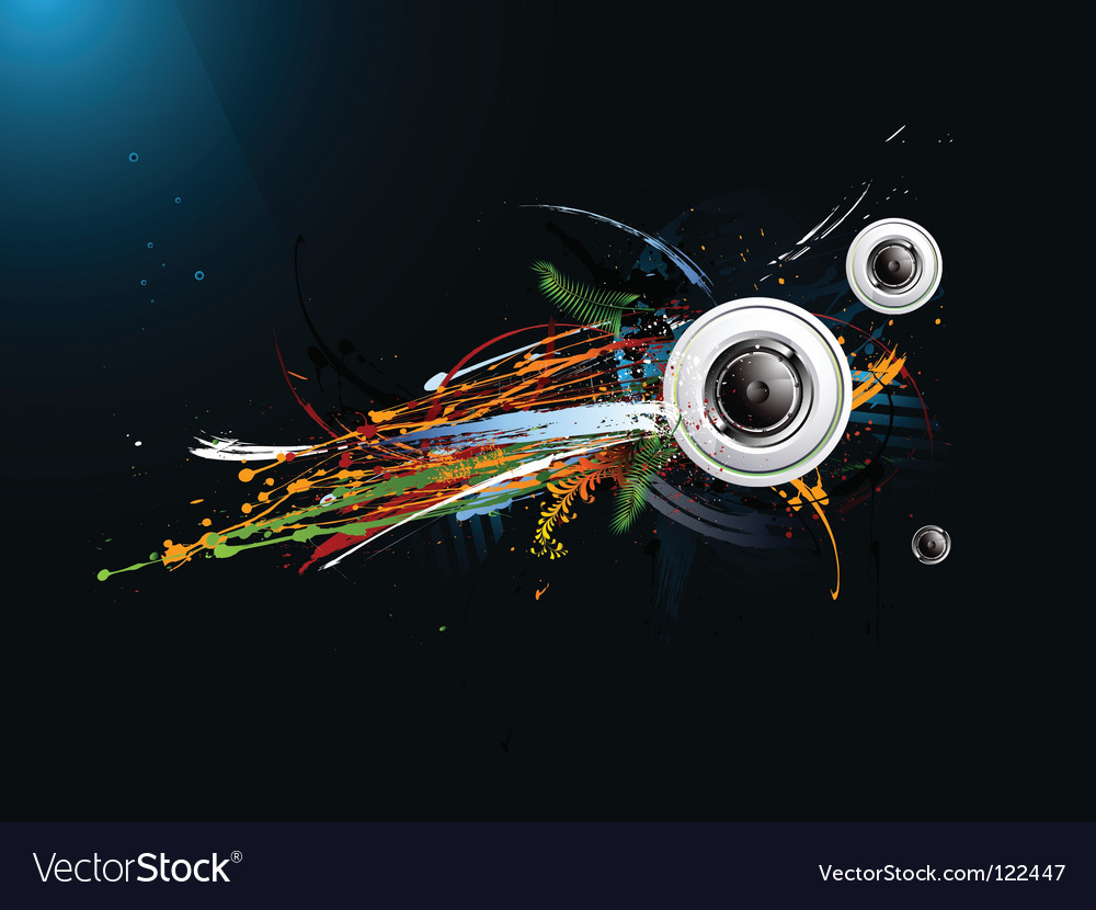 Dirty abstract grunge background loudspeaker vector image