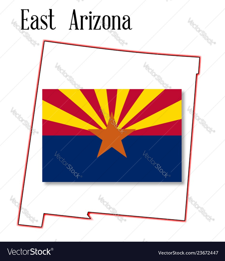 Map Of East Arizona.East Arizona Map And Flag