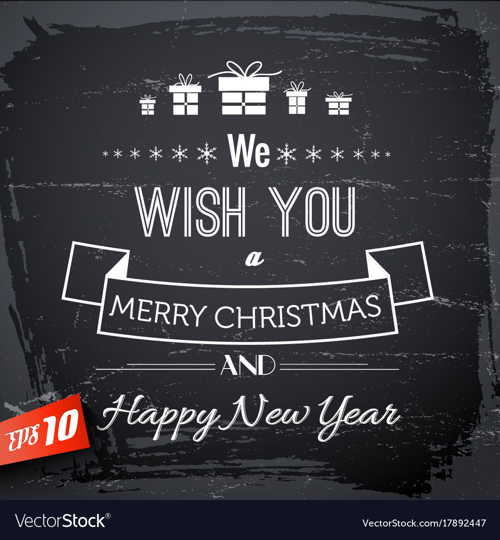 festive typographic template royalty free vector image