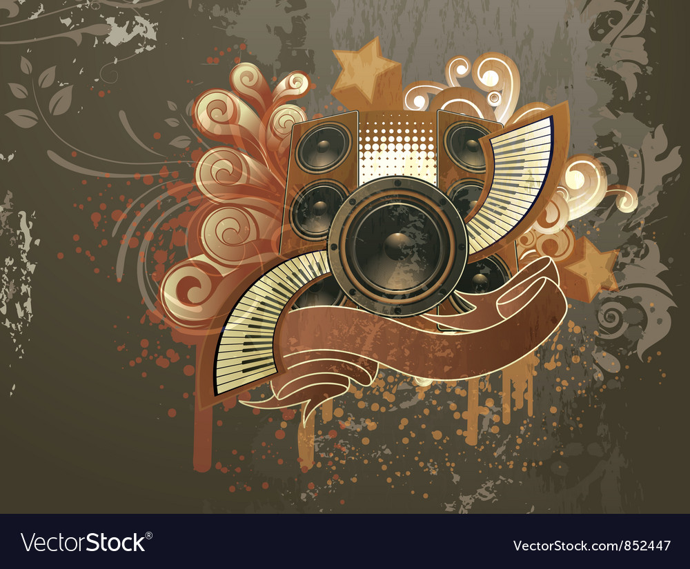 Grunge Camera Vector : Grunge concert poster royalty free vector image