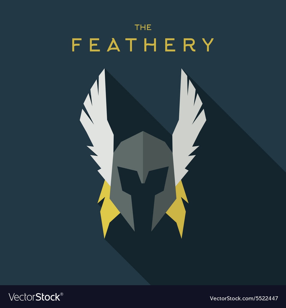 Mask feathery Hero superhero flat style icon vector image