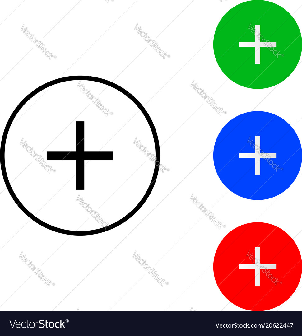 Plus sign icon vector image