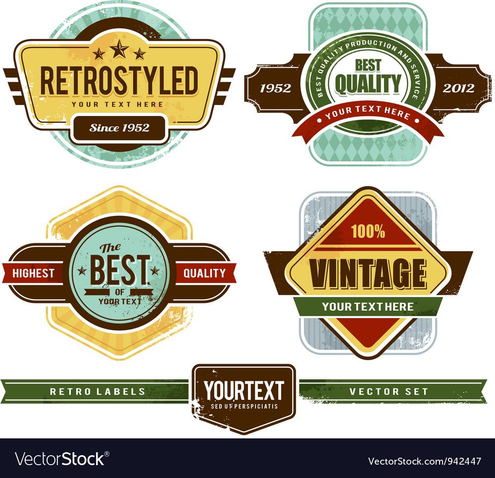 Set grunge retro badges