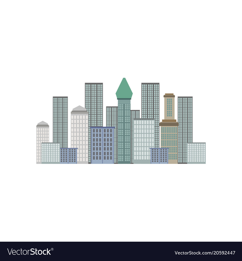 Skyscrapers new york city manhattan downtown