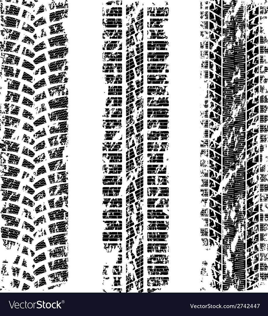 Tire tracks grunge vector image