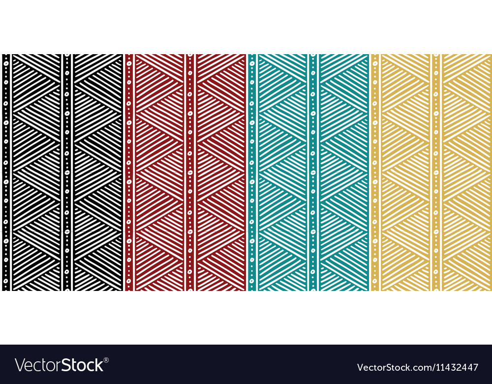 Tribal Seamless Ethnic African Pattern with Lines vector image