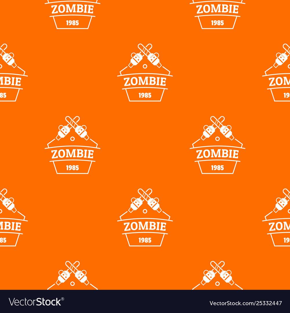 Zombie attack pattern orange