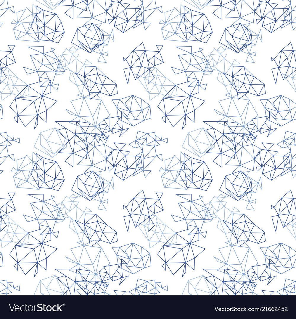 Abstract geometric pattern in blue color
