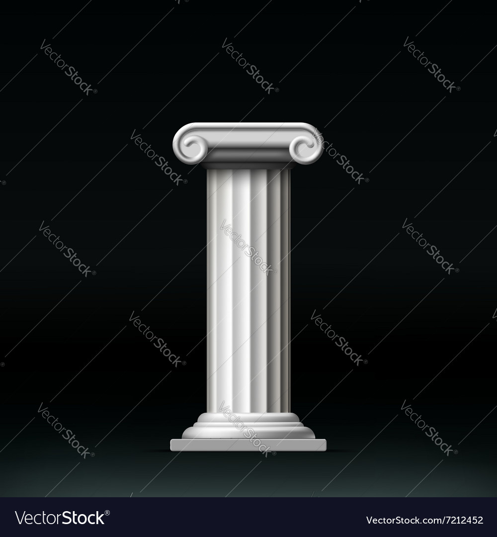 Antique white column