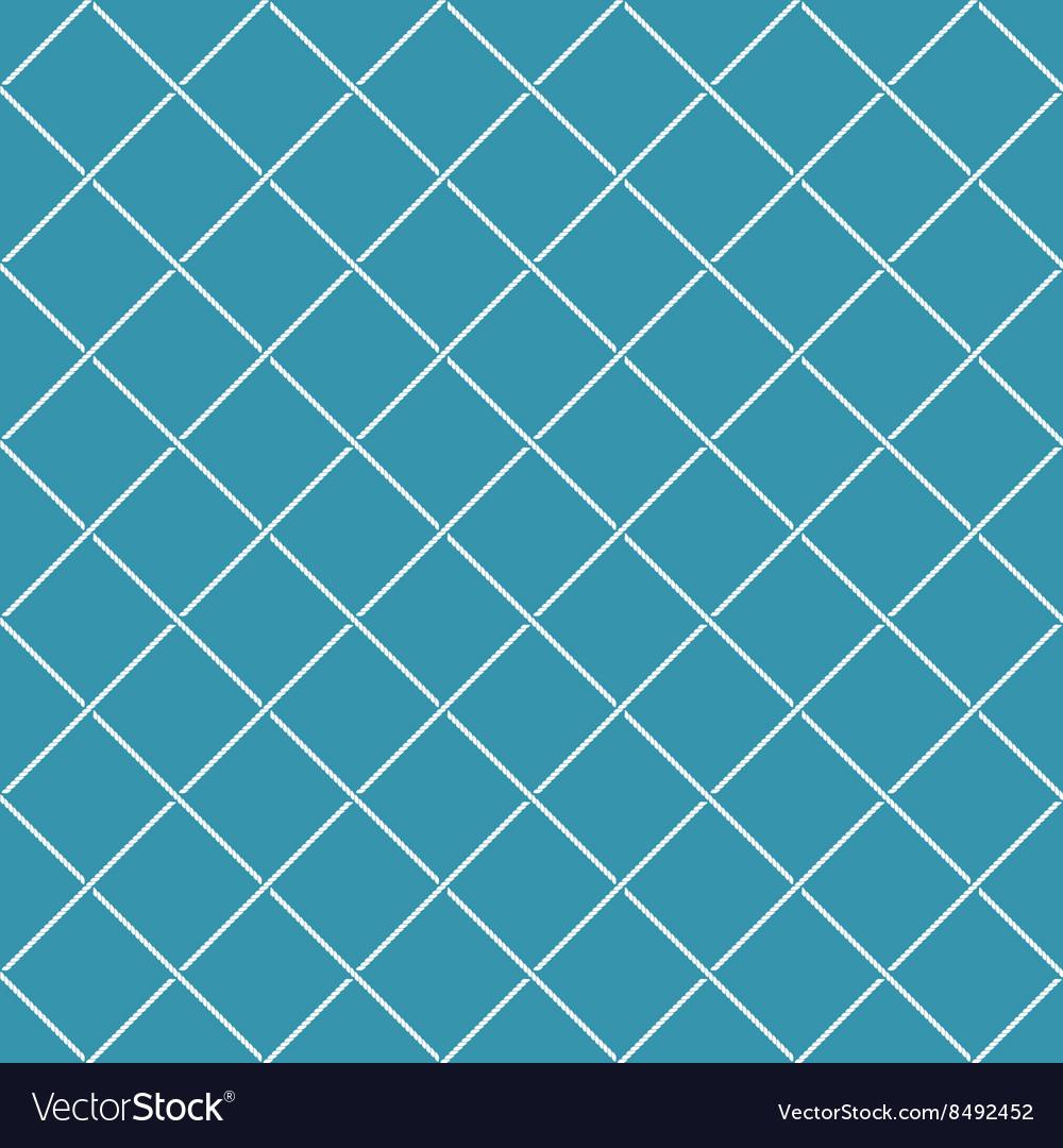 Crossing sea ropes diagonal net seamless pattern vector image