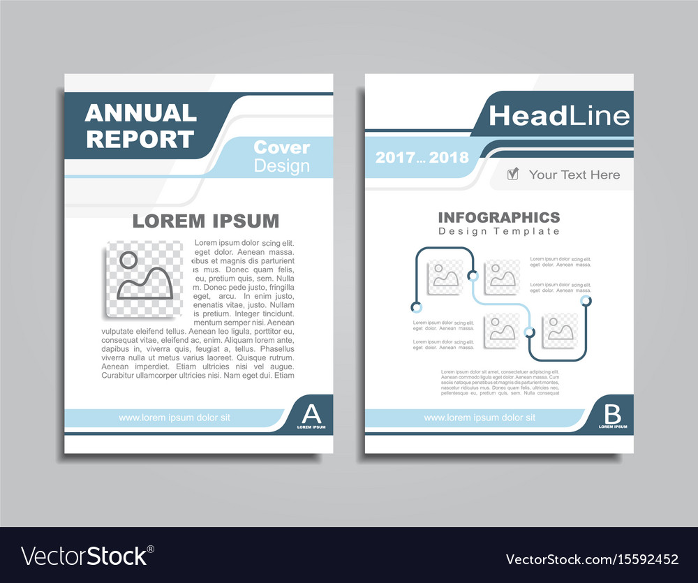 Design brochure layout with place for your text