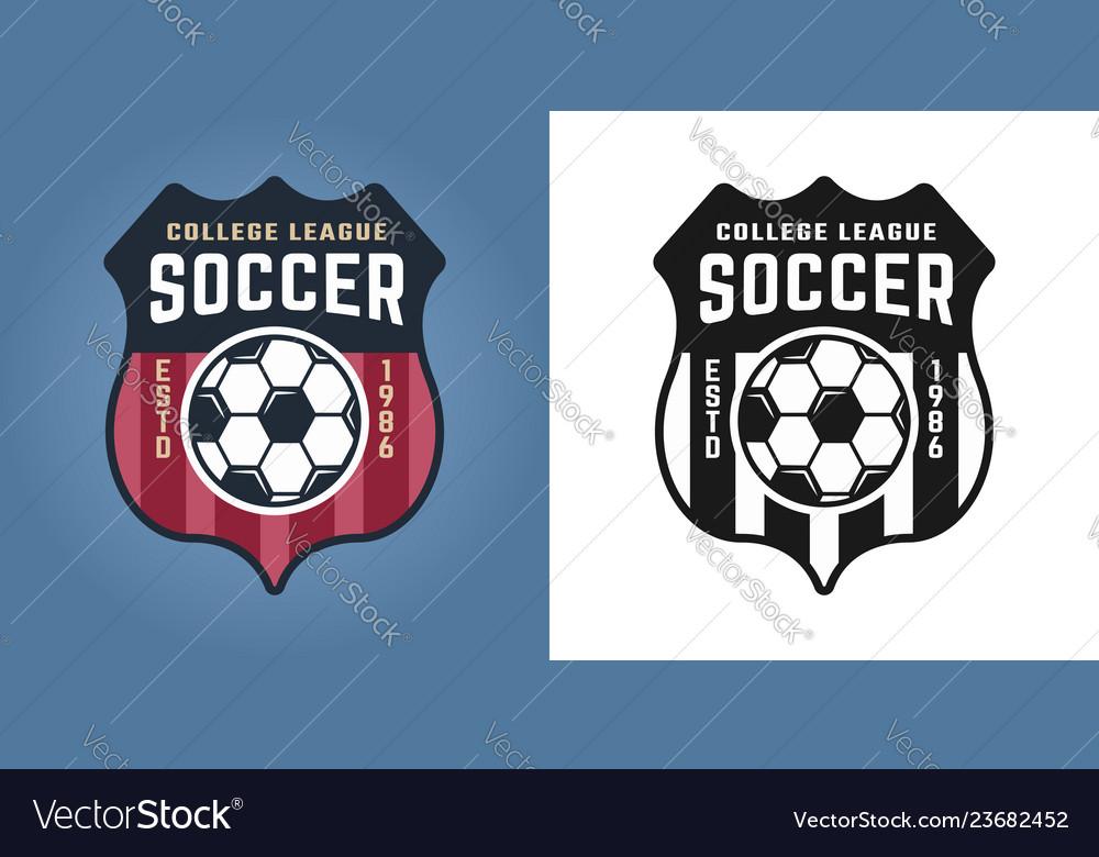 Football emblem badge label or logo