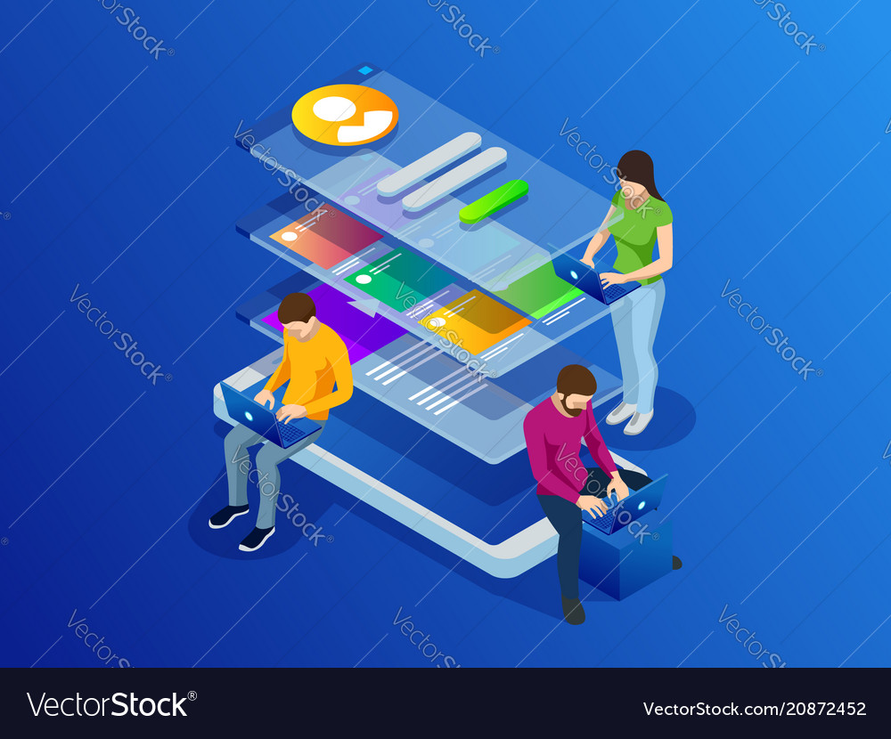 Isometric phone programming concept software