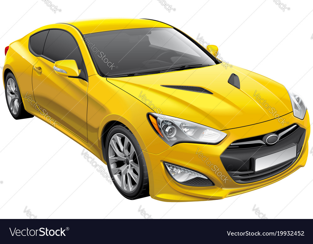 Korean Sports Coupe Royalty Free Vector Image Vectorstock
