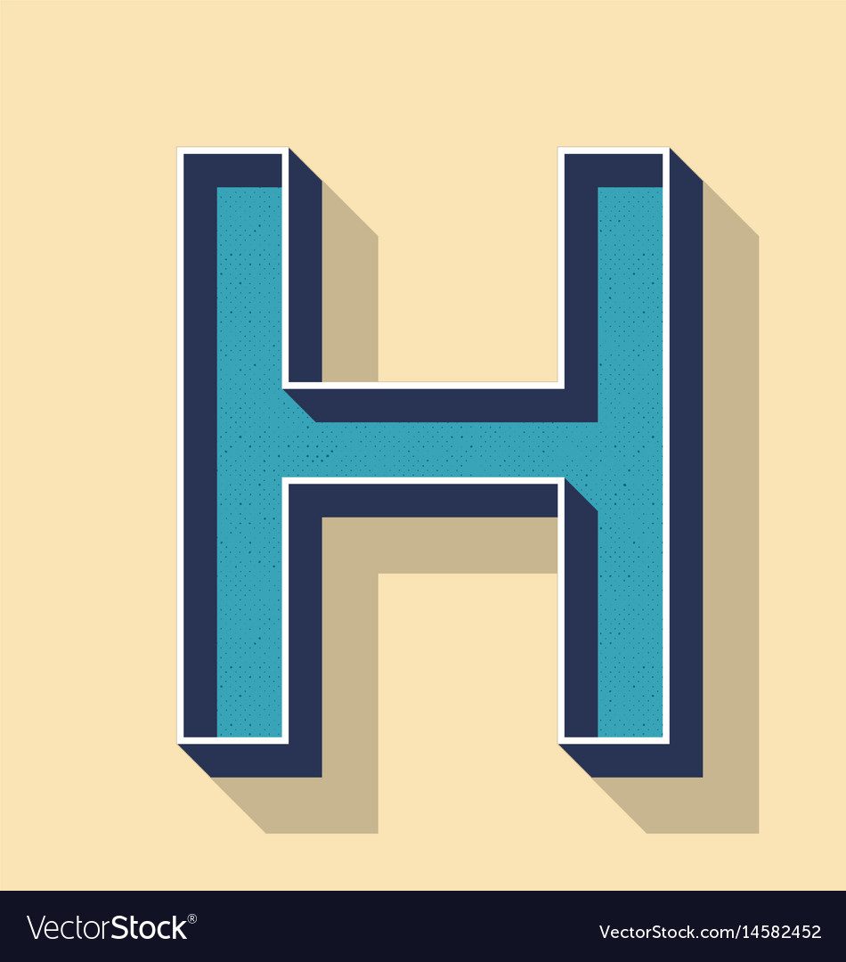 Letter h retro text style fonts concept royalty free vector letter h retro text style fonts concept vector image altavistaventures Choice Image
