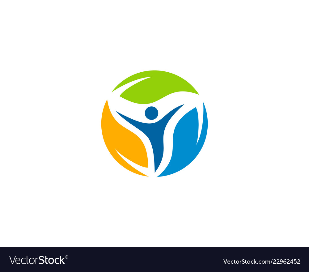People wellness logo icon design