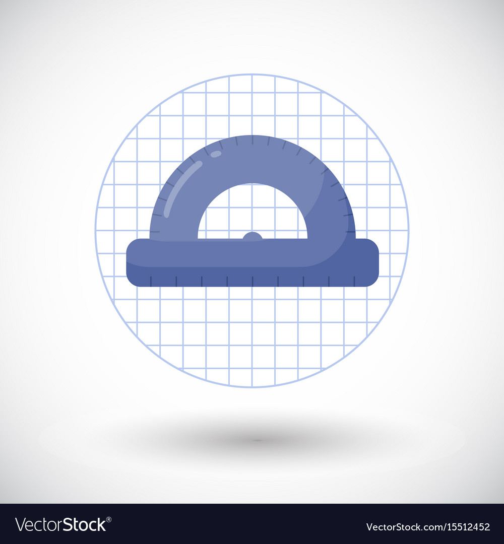 Protractor flat icon vector image