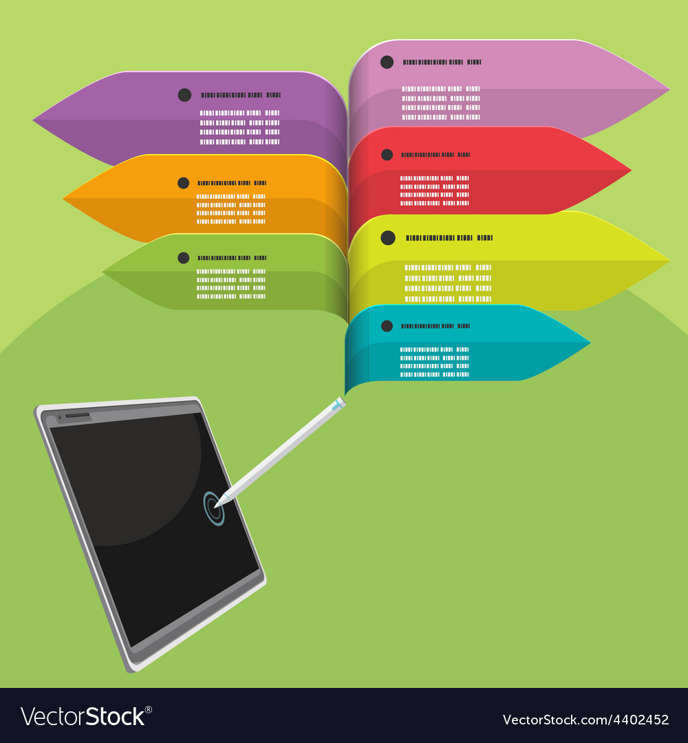 Tablet Pen Info graphic Colorful