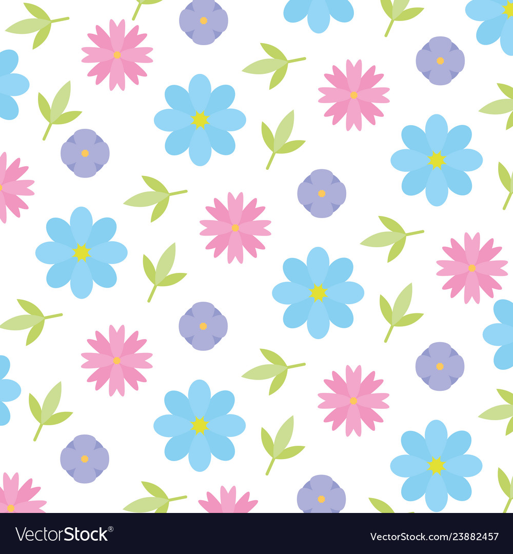 Cute background flowers leaves decoration