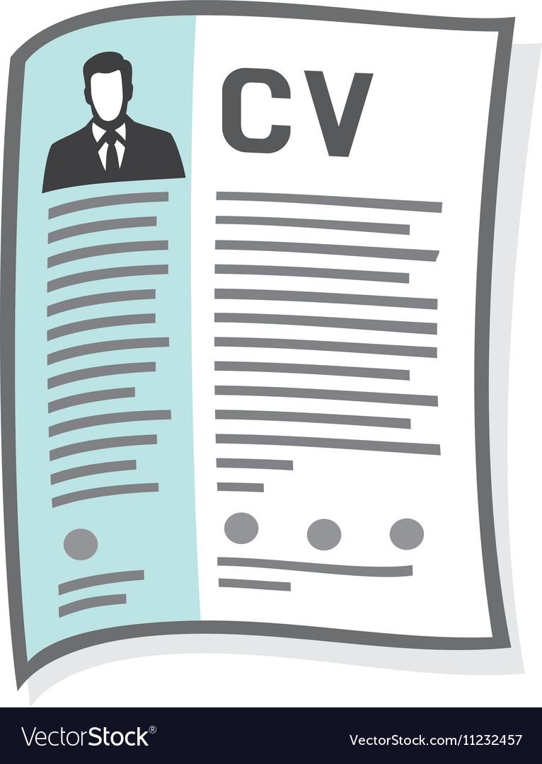 cv icon royalty free vector image