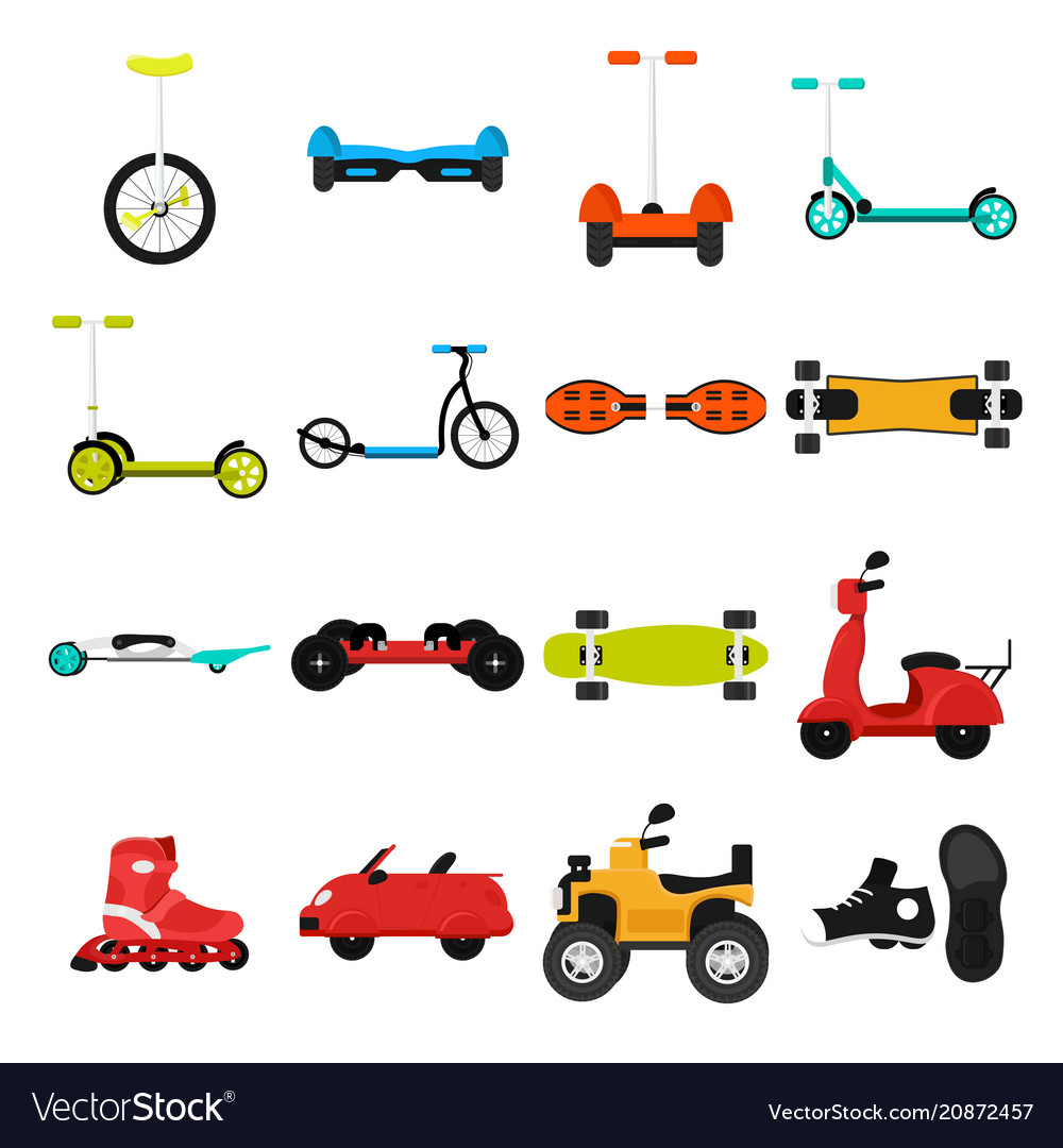 Different urban parks activity sport transport
