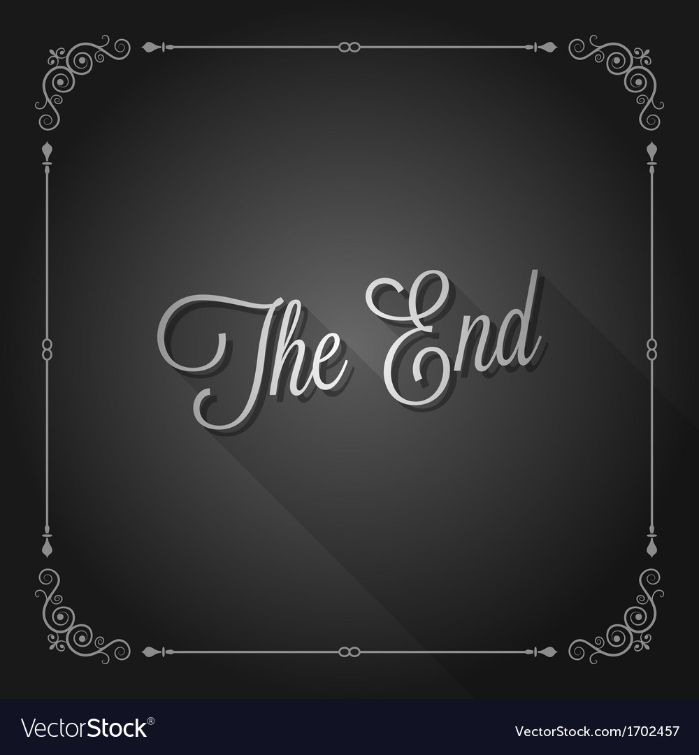 End sign movie ending frame