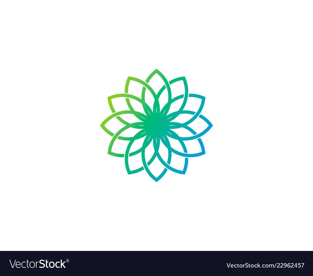 Flower wellness logo icon design