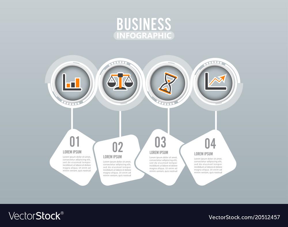 Four steps infographics design and marketing