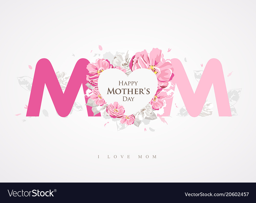 Happy mothers day message mom background