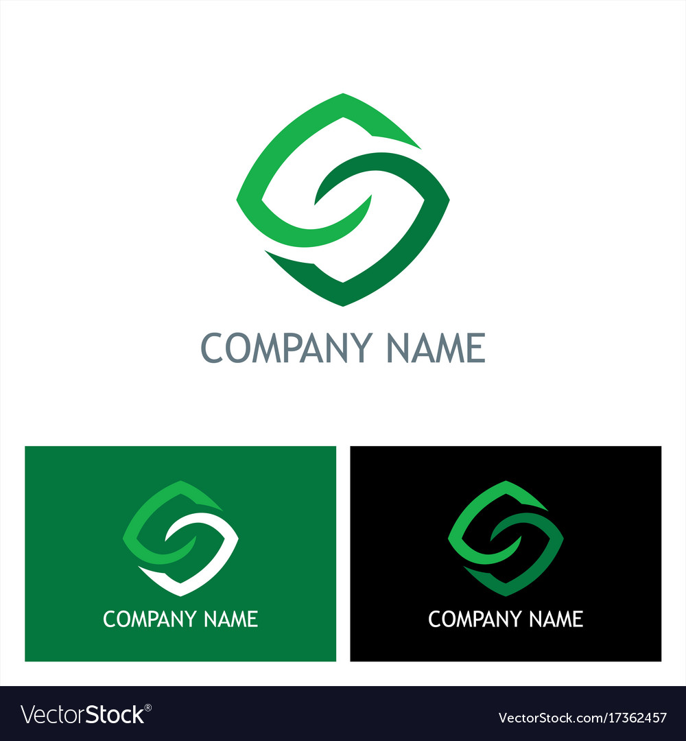 Square letter s logo vector image
