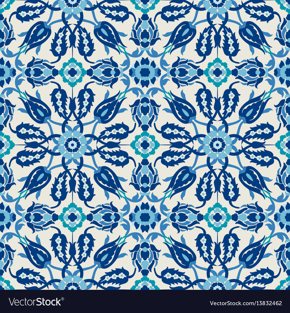 Arabesque lace damask seamless floral pattern