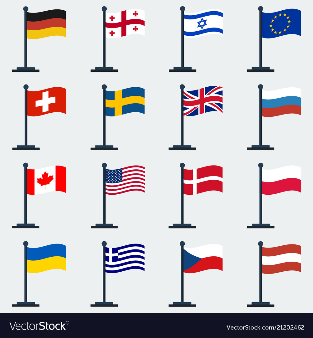 Flags of countriesflag stand
