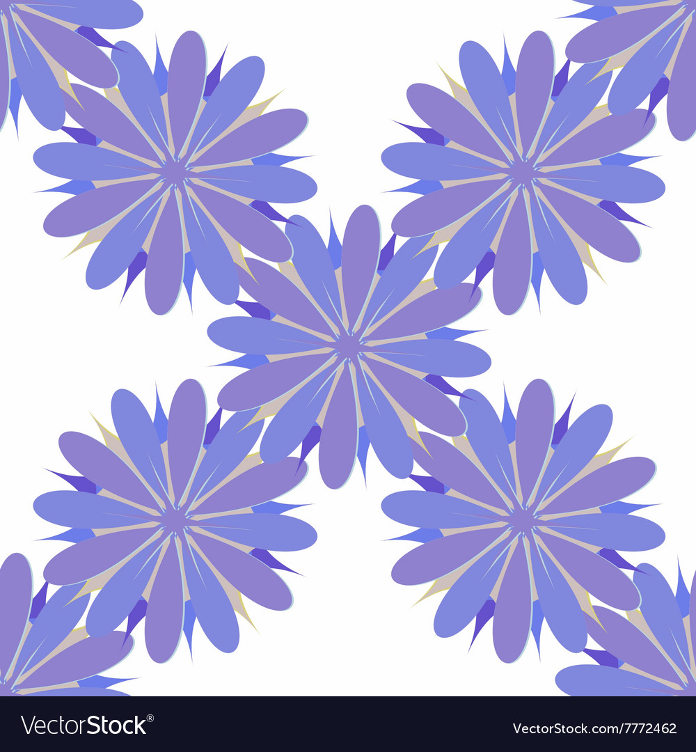 Flower seamless pattern decorative design element