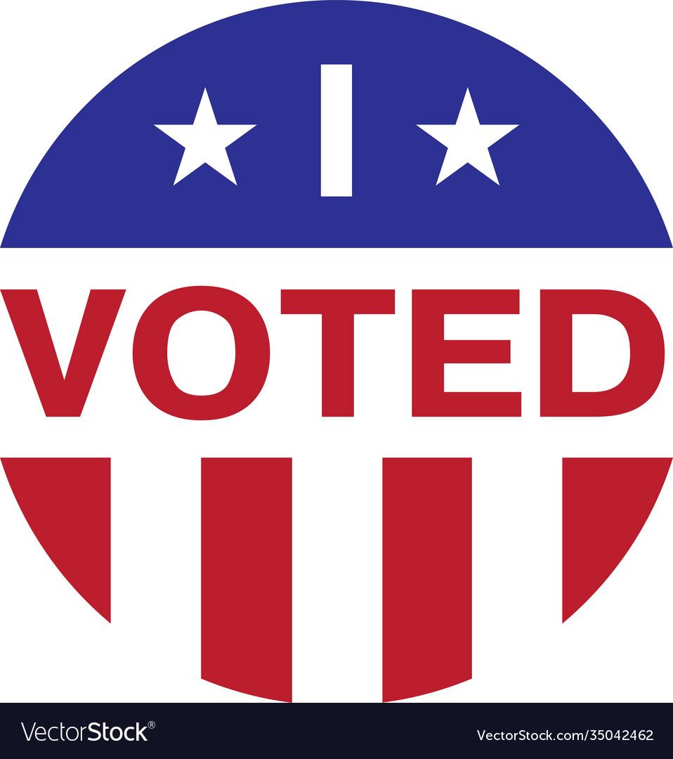 I voted isolated on white background