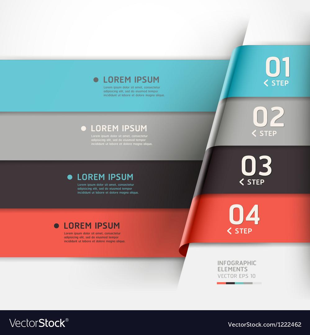 Modern step options banner vector image