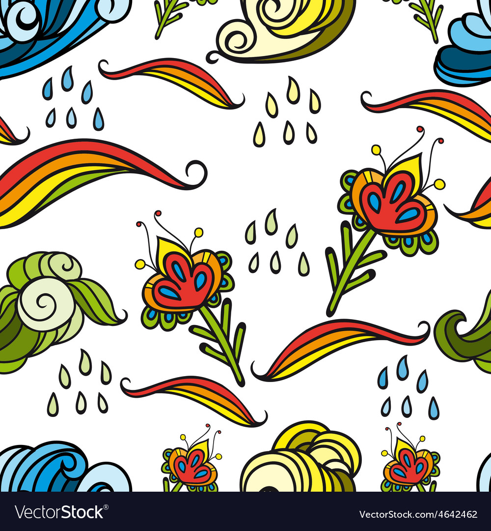 Seamless abstract floral pattern 4 vector image