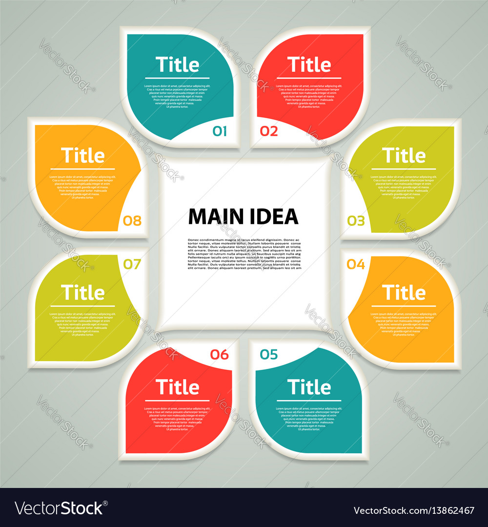Business concept with 8 options vector image